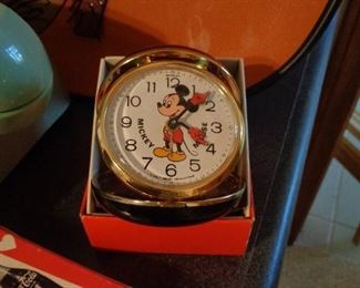 I know that you have always wanted a Mickey Mouse travel alarm w/original box