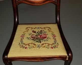 Dining chair #2 - embroidered seat