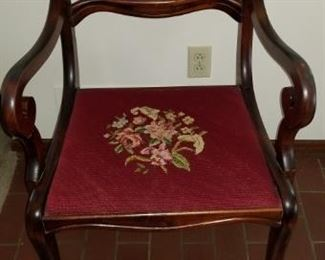 Dining chair - embroidered seat