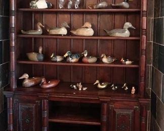 Spanish style custom bookcase