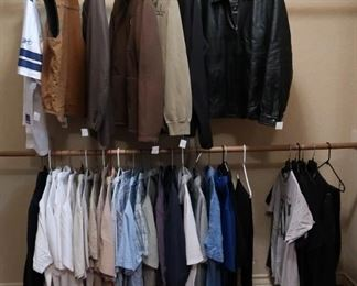 Men's clothing; size L and XL