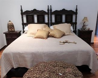 King bed made with two twin headboards