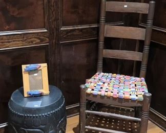 Mexican chair made with belts