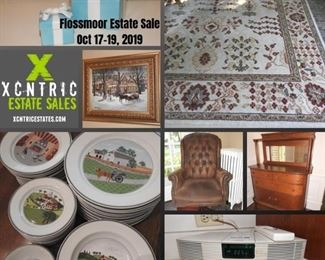 XCNTRIC ESTATE SALES : FLOSSMOOR ESTATE SALE OCTOBER 17-19, 2019