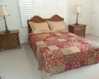 Bedroom Suit by Thomasville, Headboard, Nightstands, Bachelors Chest, Dresser w/ Mirror