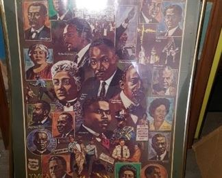 A Salute to Black Civil Rights Leaders Poster