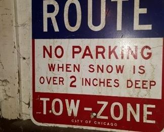 Snow Route Tow Zone City of Chicago