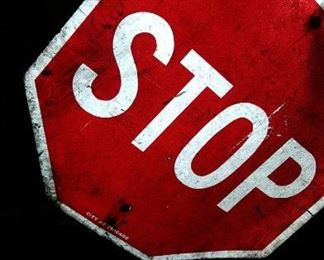 Stop Sign City of Chicago