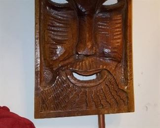 Wooden Carved Wall Mount Plaque