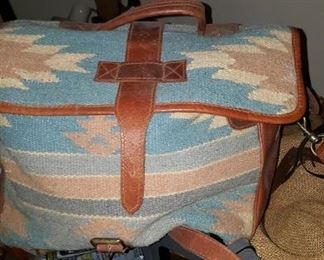 Wool And Leather Purse