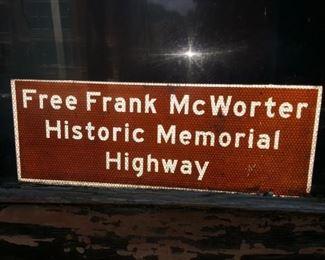 Free Frank McWorter Historic Memorial Highway