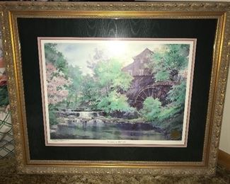 Springtime at Falls' Mill by Michael Sloan, signed and numbered print.
