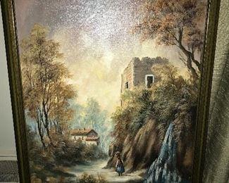 Vintage framed painting.