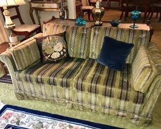 Matching pair of vintage velvet love-seats--adorable!