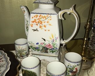 Beautiful Franklin Mint Asian-themed items--vases, lamps, tea sets and more.