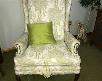 Pair Queen Anne chairs, excellent condition.