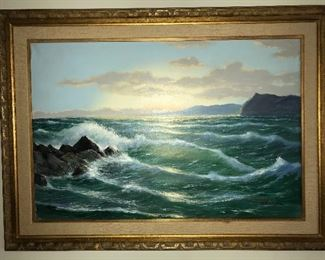 Original painting by Anselm Frank--Seascape.