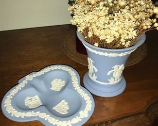 Wedgwood blue ware.