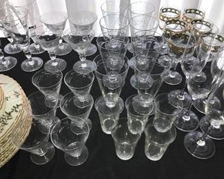 Lots and lots of glassware--stemware.