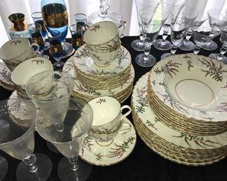 "Royal Worcester china, ""Dunrobin"" pattern."