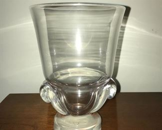Steuben glass vase.