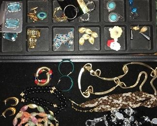 Lots and lots of vintage and contemporary costume jewelry.