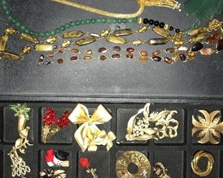 Lots and lots of vintage and co temporary costume jewelry.