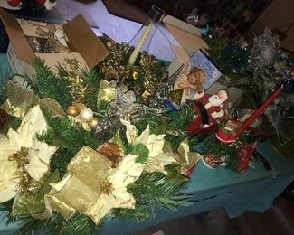 Lots of Christmas decor, some vintage.
