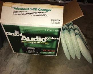Vintage Aiwa 3-CD changer.