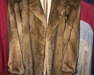 Beautiful mink coat--excellent condition.