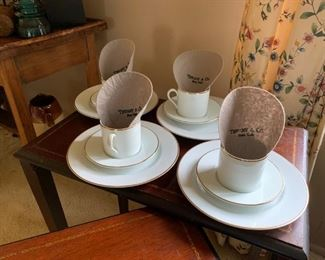 Tiffany and Co. tea cup set, set of four.