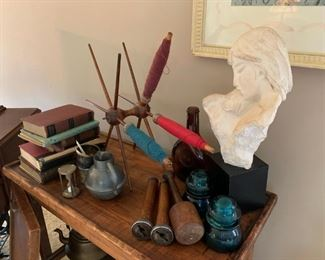 Assorted home decor items for sale.
