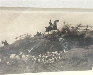 Vintage black framed print