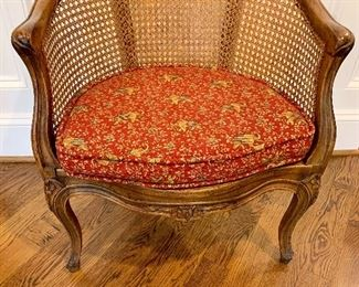 French Country cane armchair