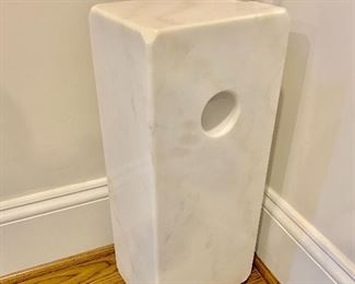 "MCM ""Arch"" floor lamp with marble base"