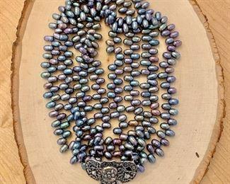 Pearl multi strand necklace