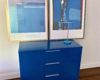 Crate and Barrel dresser (painted blue)