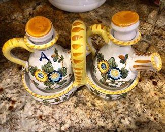 Olive oil and vinegar set