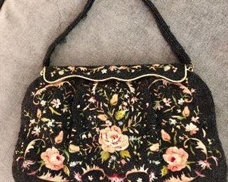 Herve Paris beaded handbag