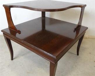 Antique 2Tier Corner Accent Table
