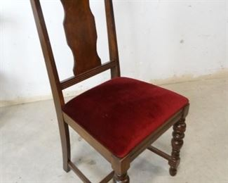 Antique Cushioned Wooden Chair