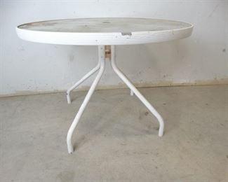 Glass Metal Patio Table