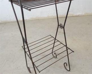 Vintage Metal Plant Stand or Shelf