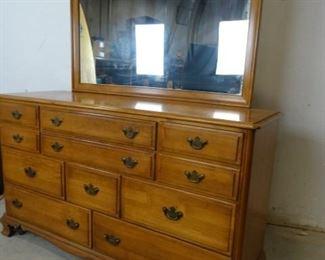 Vintage Solid Maple Vanity Dresser by Kling