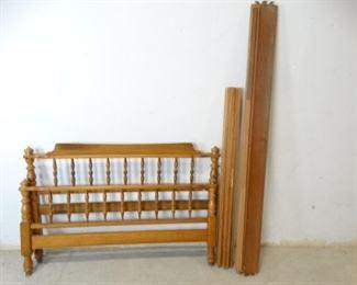 Vintage Turned Solid Wood Bedframe