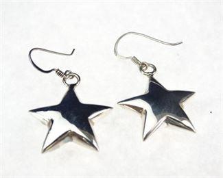 925 Sterling Silver, StarShaped Earrings