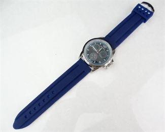Geneva Stainless Steel Tachometer Sport Styled Watch