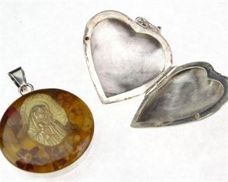 Pair of Vintage 925 Sterling Silver Pendants