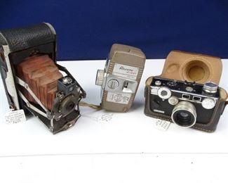 Vintage Cameras Argus, Kodak, Revere