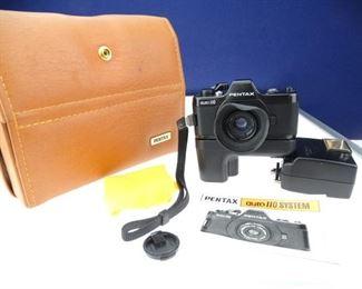 Vintage Pentax Auto 110 Small Film Camera Bundle